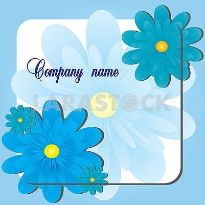 Background with blue gerberas flowers