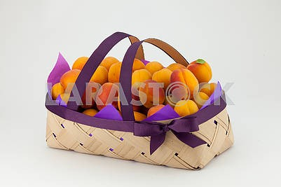 Apricots in a basket