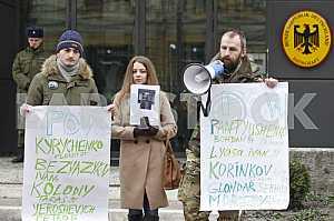 Rally near the German Embassy in Kiev