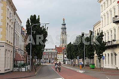 Street of the city Middelburg
