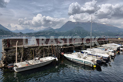 Like Como, Italy, 24 april 2014, Spring landscape on Lake Como,