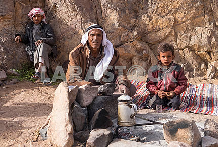 Father Bedouin with sons
