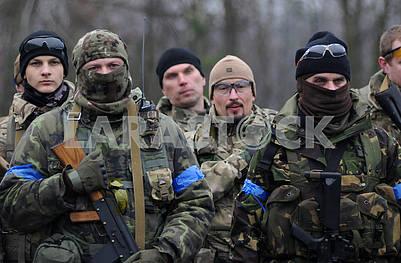 Servicemen - participants of the exercise