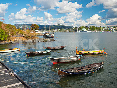 Boats at the pier in Oslo