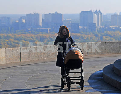Woman with a pram