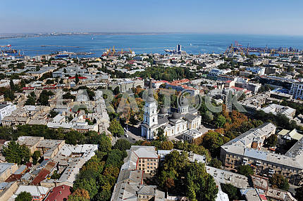 Odessa. Aerial view. Spaso-Preobrazhensky Cathedral September 27, 2011