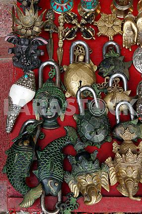Hinged door locks