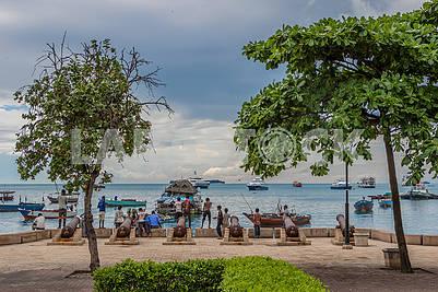 Embankment in Zanzibar
