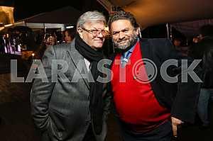 "Ilya November and Valery Chiglyaev on the 10th anniversary of the magazine ""Focus"""