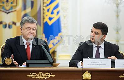 Peter Poroshenko and Vladimir Groisman
