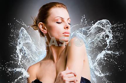 Portrait beautiful young woman