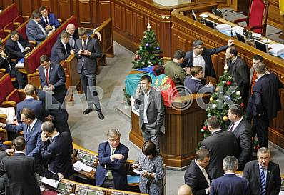 The meeting of the Verkhovna Rada of Ukraine.