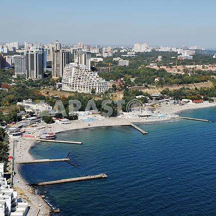 Odessa. Aerial view. Beaches in Arcadia, 27 September 2011