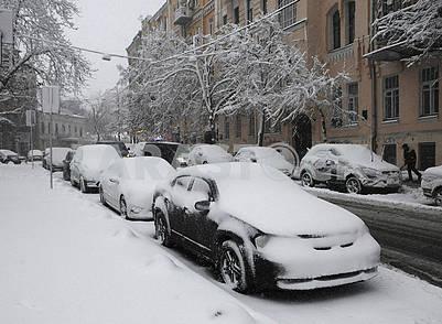 Machines under the snow