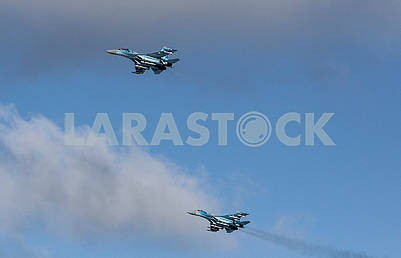 Ukrainian Air Force aircraft in the sky