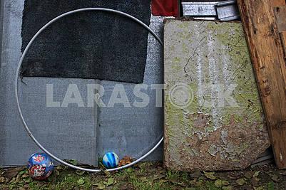 Gymnastic aluminum gray hoop