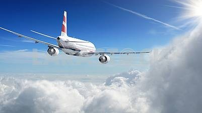 Aircraft in the air is very beautiful.