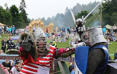 "Knight tournament at the festival ""Tustan"" August 6, 2016"