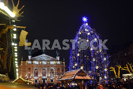 Christmas tree in Lviv