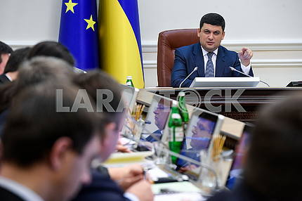 Volodymyr Groisman at the Cabinet