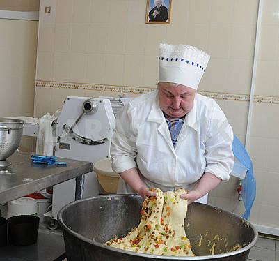 Baking Easter cakes