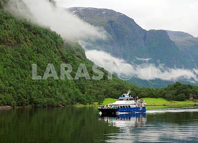 Tourist ship in Hardangenfjord