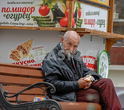 Lonely elderly man