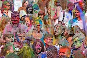 The festival of colors Holi in Kiev