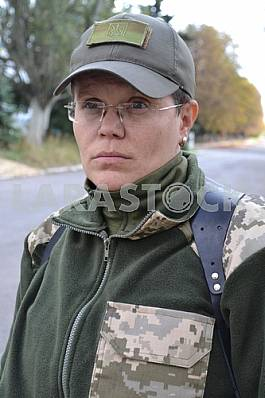 The officer instructor Lyudmila Kalinina