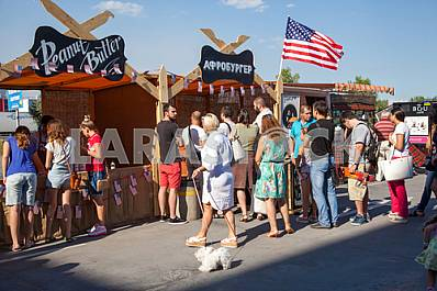 American Festival in Kiev - Ukraine 15-16 August 2015 - Stock image