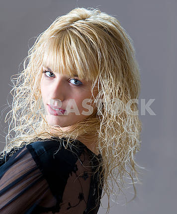 Young beautiful Caucasian blond woman