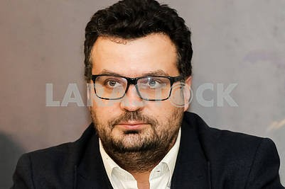 """Chairman of the State Agency of Ukraine for Filmmaking Filipp Ilenko during the pre-premiere screening of the film """"Cyborgs"""""""