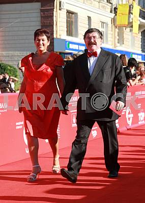 Boris Burda on the red carpet OIFF