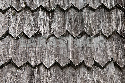 Old wooden roof.