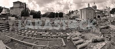ROME. ITALY. SEPTEMBER 12 2014 Ancient Ruins of Rome - Imperial