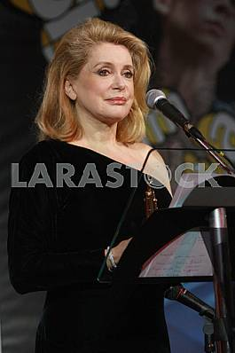 Catherine Deneuve in Kiev, October 24, 2009