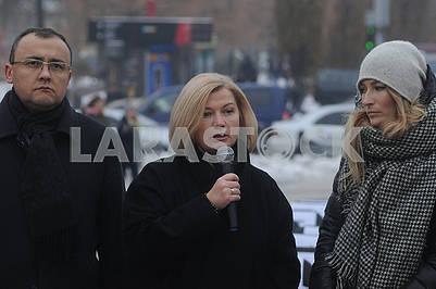 Vasily Bodnar, Irina Gerashchenko and Emine Dzhaparova