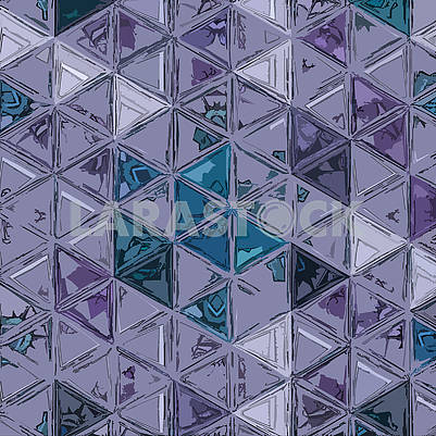 Violet striped texture with triangles. Abstract transparent mosaic background for fabric, home decor, wrapping