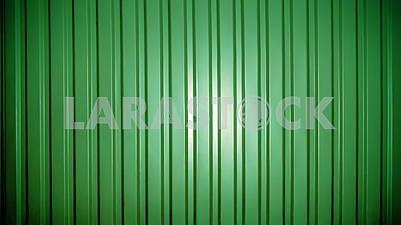 Background of green corrugated metal sheet