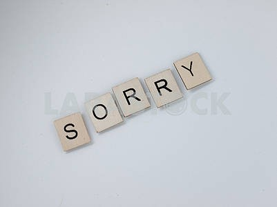 Sorry Wooden Letters