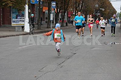 "Runners on the course ""Dnipro Eco Marathon"""