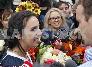 Jamala arrive in Ukraine