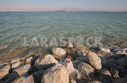 The big crystal of salt of Dead Sea