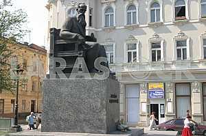 Hrushevsky Monument in Lviv