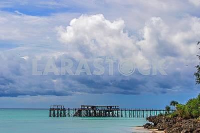 Pier in the Indian Ocean