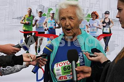 "89-year-old Kokin Vladlen finish ""Dnipro Eco Marathon"""