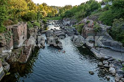 Ros - right tributary of the Dnieper River, one of the most picturesque small rivers Kyiv region. The river sometimes violent and swift, to make its track between the granite slabs that extend to the surface huge boulders,