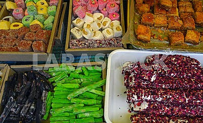 Oriental sweets in assortment