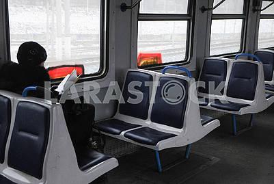 Passengers of city train