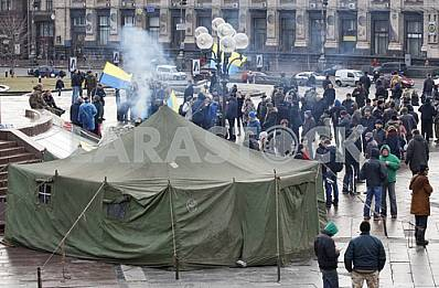 Protest on the Independence Square in Kiev